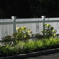 Cedar picket fence