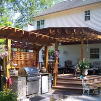 Pressure treated pergolas