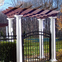 Stained entrance arbor