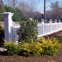 Custom cedar fence stained white