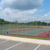 School tennis courts