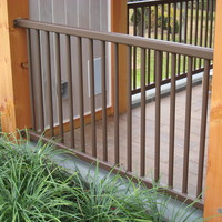 Steel railing in pool house
