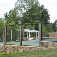 Cedar post tennis courts