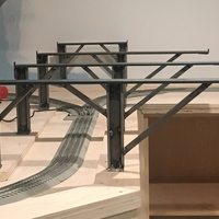 Cantilever train track i-beams
