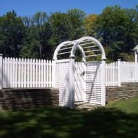 Cedar picket with arbor