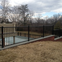 Custom twisted spindle pool fence