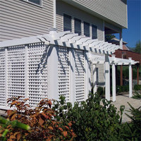 Wood trellis with lattice