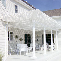 Lattice topped trellis