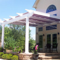 Pergola with shade canopies
