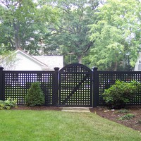 Arched gate in maintenance free fence